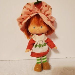 Vintage Strawberry Shortcake Doll - Hat Attached